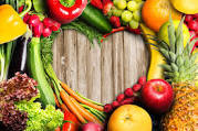 Fresh fruits and vegetables as part of  eating healthy at home