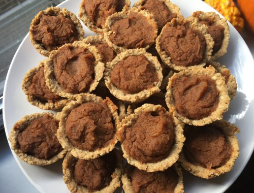 plate of mini sweet potato pies