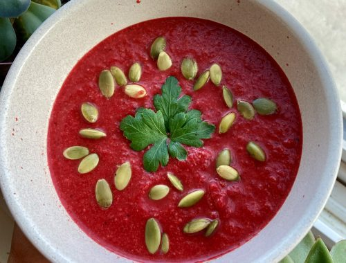 Carrot Beet Ginger Soup