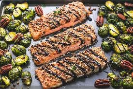 both salmon and brussel sprouts are a good source of omega-3's